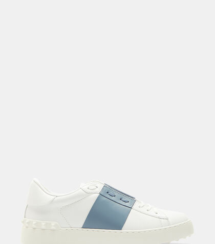 Open Contrast Panel Stud Sneakers by Valentino