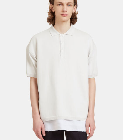 Oversized Layered Knit Polo Shirt by Raf Simons