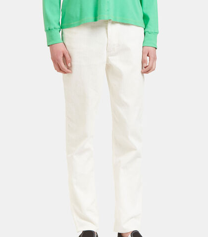 Corduroy Straight Leg Pants by Eckhaus Latta