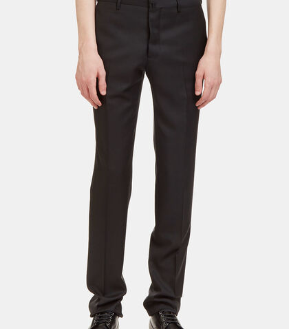 I Virgin Wool Slim Leg Tailored Pants by Aiezen
