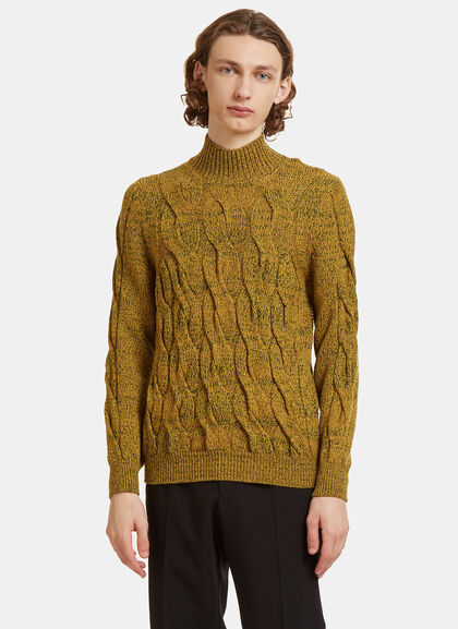 Buy Cable Knit Roll Neck Sweater by Missoni men clothes online