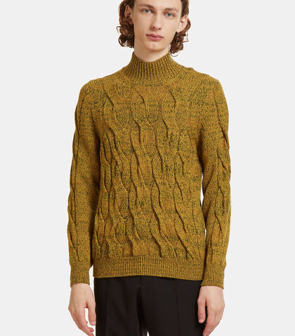 Cable Knit Roll Neck Sweater by Missoni