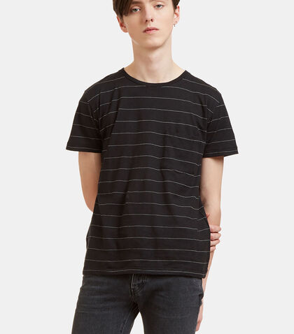 Striped Crew Neck T-Shirt by Saint Laurent