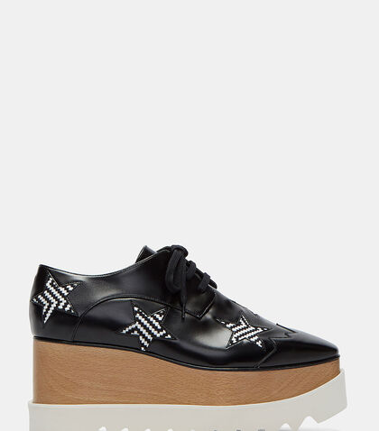 Elyse Woven Star Platform Shoes by Stella McCartney
