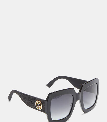 Oversize Square-Frame GG0102S Sunglasses by Gucci