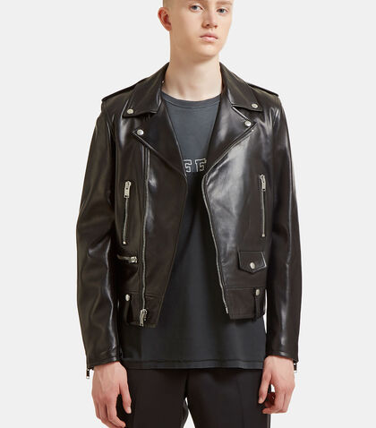 Classic Leather Motorcycle Jacket by Saint Laurent