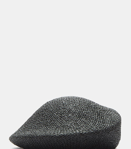 Clyde Net Straw Beret by Clyde
