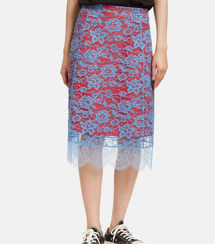 Lulu Contrast Layered Lace Skirt by Altuzarra