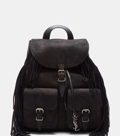 Festival Crusader Fringed Suede Backpack by Saint Laurent