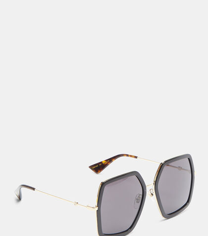 Oversize Hexagonal Frame GG0102S Sunglasses by Gucci