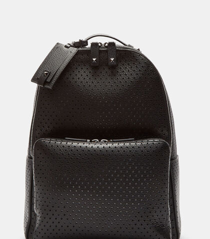 Perforated Grained Leather Backpack by Valentino