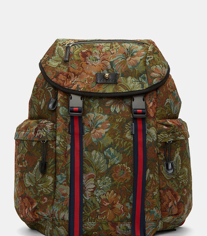 Zaino Floral Brocade Backpack by Gucci