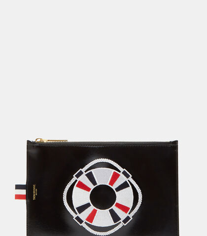 Embroidered Buoyancy Ring Coin Purse by Thom Browne