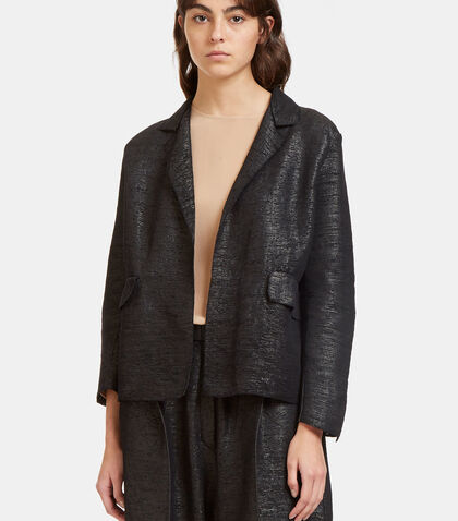 Oversized Tactile Woven Jacket by Boboutic