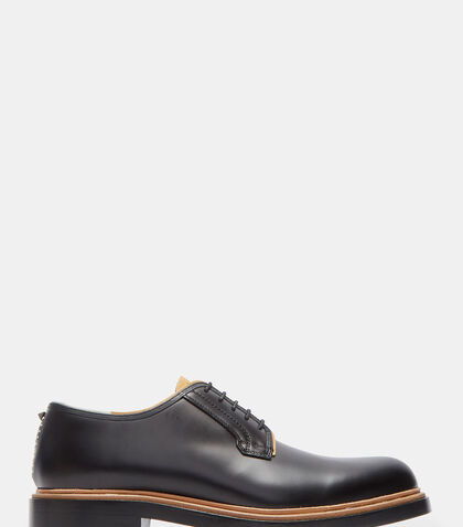 Raw Contrast Derby Shoes by Valentino