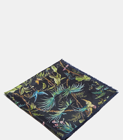 Tropical Print Silk Scarf by Gucci