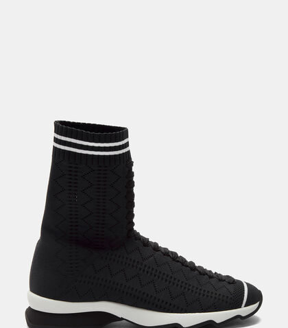 Zigzag Sock Sneaker Boots by Fendi