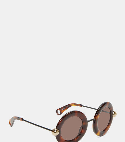Oversized Round Tortoiseshell Sunglasses by Christopher Kane