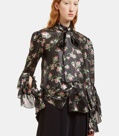 Jed Lurex Daffodil Blouse by Preen