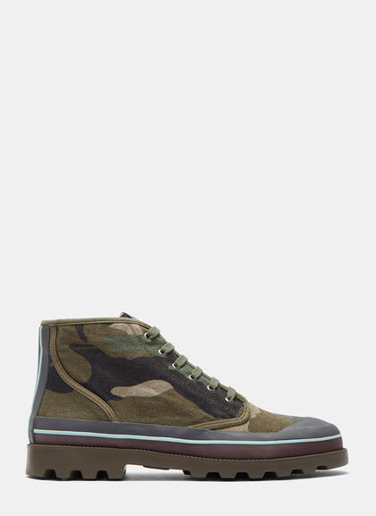 Buy Camouflage High-Top Sneakers by Valentino men clothes online