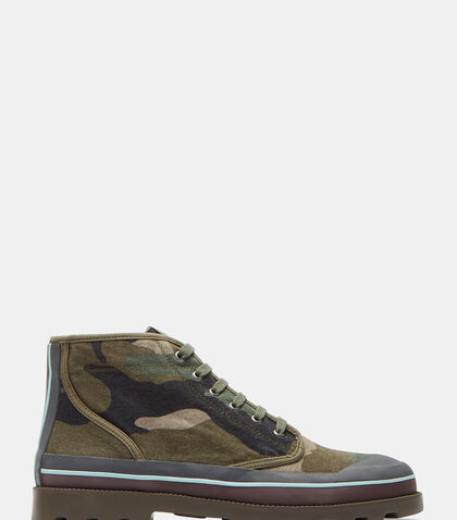Camouflage High-Top Sneakers by Valentino