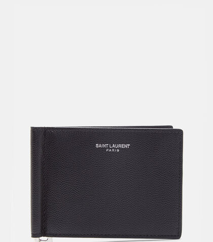 Paris Grain de Poudre Bill Clip Wallet by Saint Laurent