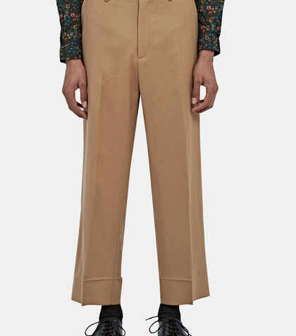 Straight Leg Wool Flannel Pants by Gucci