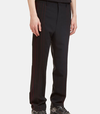 Contrast Stitched Seam Pants by Lanvin