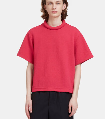 Rufus Textured Padded Ring Collar T-Shirt by Mohsin