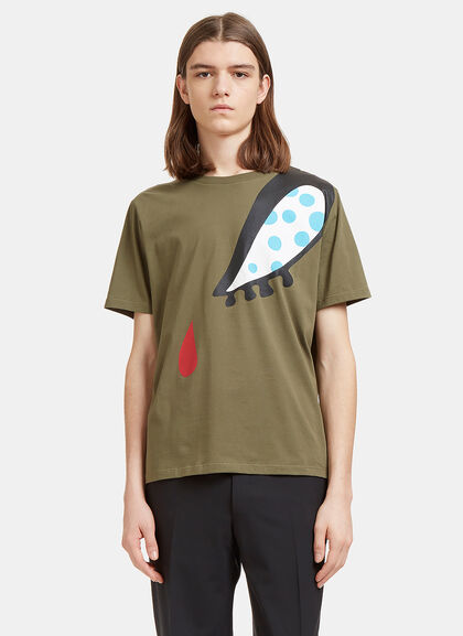 Buy Doll Eye Print T-Shirt in Khaki by J.W. Anderson men clothes online