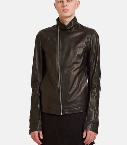 Mollinos Leather Biker Jacket by Rick Owens