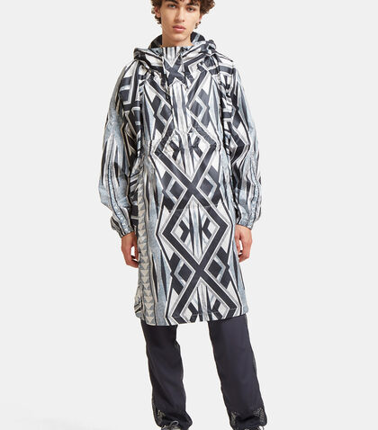 Landscape Printed Artwork Poncho Jacket by Snow Peak