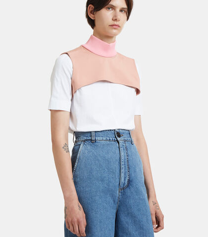 Ribbed Roll Neck Cropped Bib by Marni
