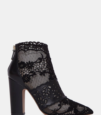 lncc female lace block heeled ankle boots