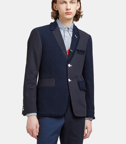 Tweed Patchwork Blazer Jacket by Thom Browne