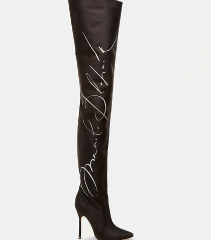 Manolo Blahnik Signature Thigh High Boots by Vetements