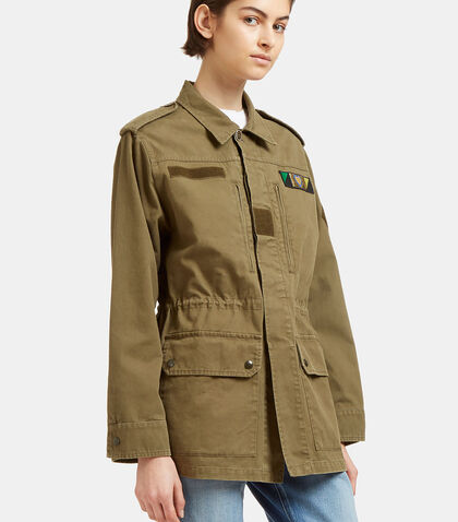 Glittered Love Embroidered Military Jacket by Saint Laurent