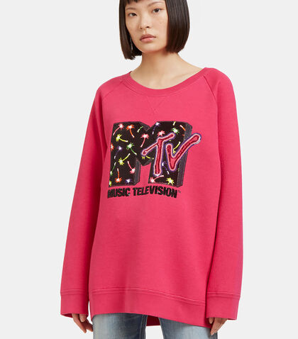 Oversized Sequin Embroidered MTV Sweater by Marc Jacobs