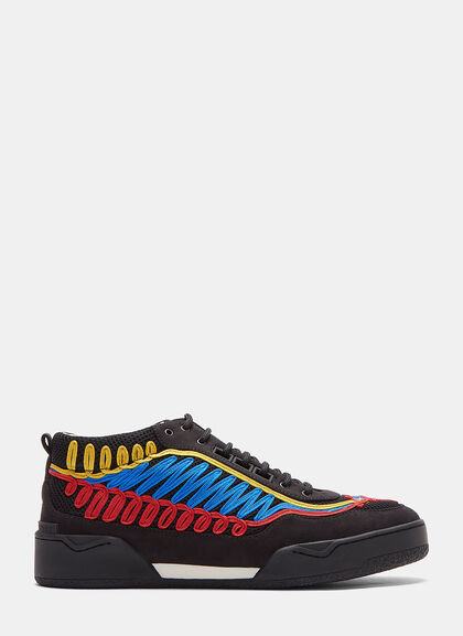 Buy Embroidered Panelled Low-Top Sneakers by Stella McCartney men clothes online