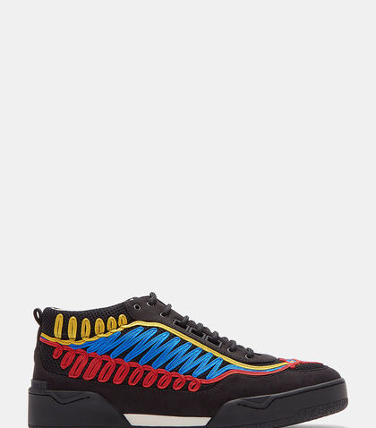 Embroidered Panelled Low-Top Sneakers by Stella McCartney