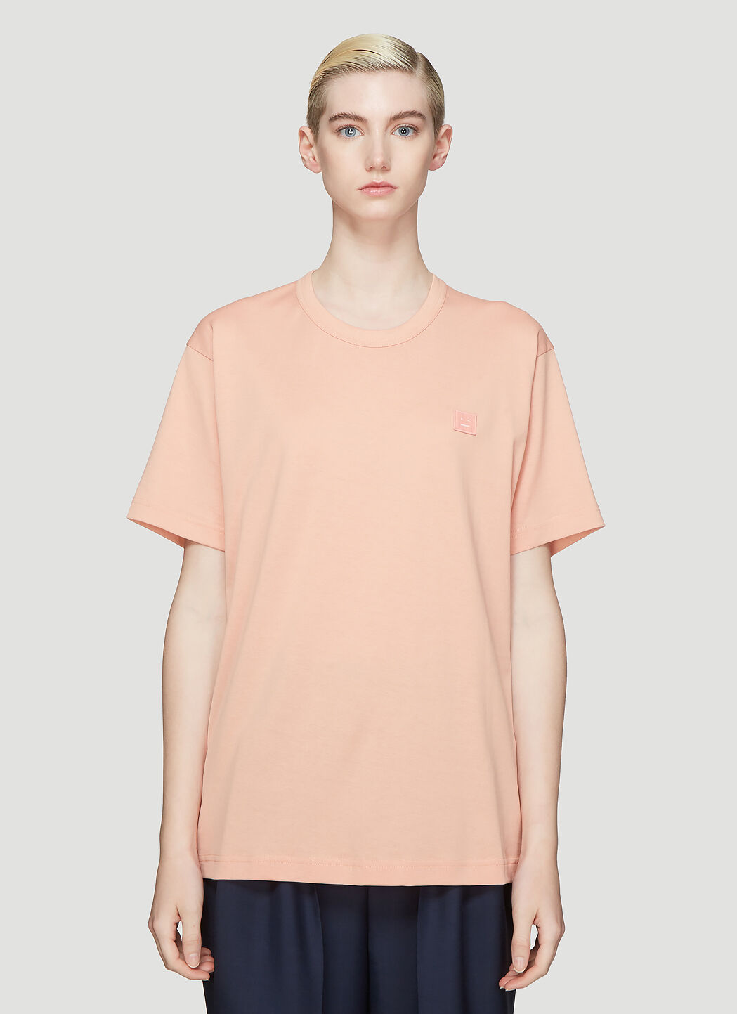 Nash Face Embroidered T-Shirt in Pink
