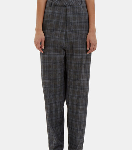 Oversized Checked Pants by Vetements