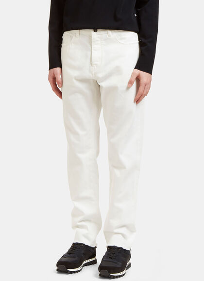 Buy Raw-Edged Oversized Jeans by Valentino men clothes online