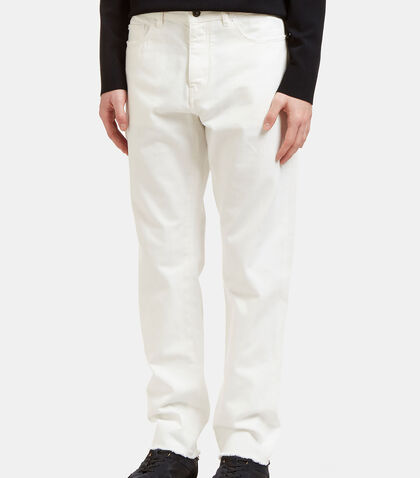 Raw-Edged Oversized Jeans by Valentino