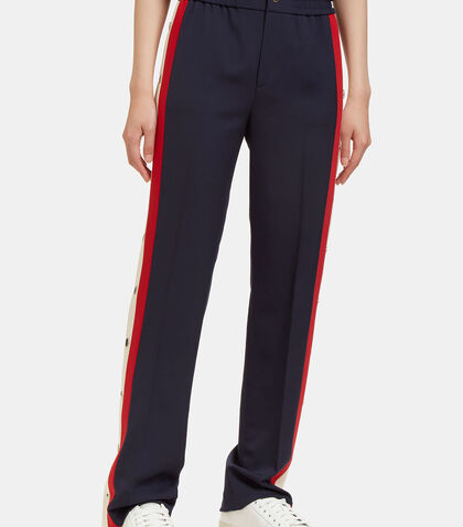Striped Wool Silk Jogging Pant by Gucci