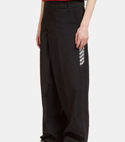 Wide Leg Contrast Seam Pants by Yang Li