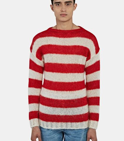 Striped Mohair Knit Sweater by Gucci