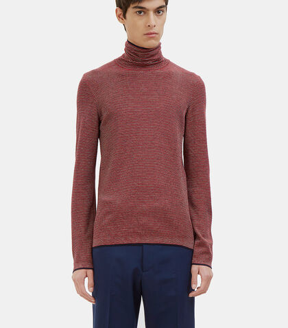 Striped Roll Neck Sweater by Gucci
