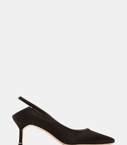 Manolo Blahnik Backless Kitten Heeled Pumps by Vetements