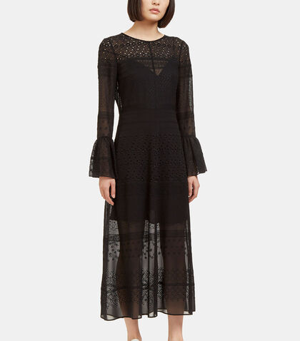 Long Sheer Broderie Anglaise Dress by Saint Laurent